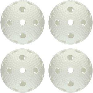 Aero Ball White Salibandypallo 4-Pakkaus
