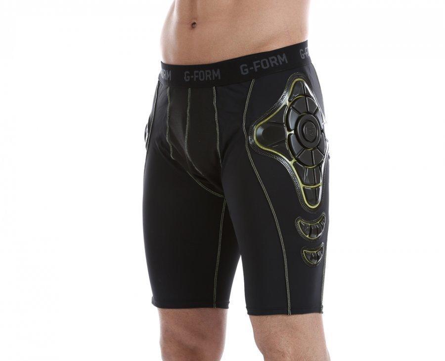 G-Form Compression Shorts Pro-X Maalivahdin Housut Musta / Keltainen